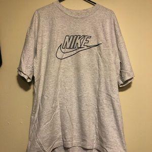 Vintage 80's Nike Big Swoosh T-Shirt Gray Tag Sz L